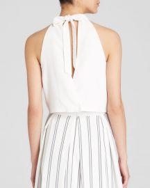 J O A  Top - Tie Back Crop in White at Bloomingdales