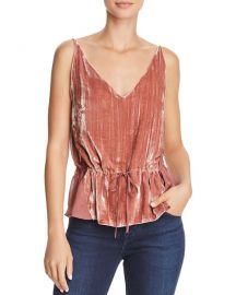 J brand Lucy Velvet-Front Camisole Top at Bloomingdales