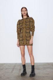 JACQUARD DRESS at Zara