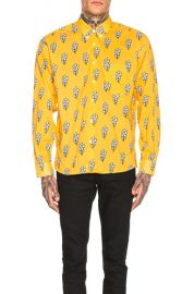 JACQUEMUS Long Sleeve Printed Shirt in Dark Yellow   FWRD at Forward