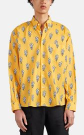 JACQUEMUS SHEAF-PRINT COTTON VOILE SHIRT at Barneys