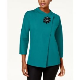 JM Collection Asymmetrical Embellished Cardigan at Macys