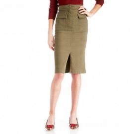 JOA High Waisted Midi Skirt at Sole Society