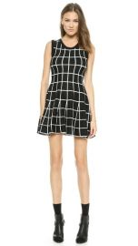 JOA Knitted Skater Dress in Check at Shopbop