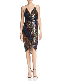 JOA STRIPED SEQUINED DRESS at Bloomingdales