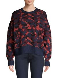 JOIE - BRYCEN CAMO WOOL SWEATER at Saks Fifth Avenue