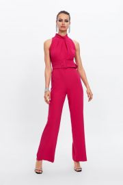 JUMPSUIT WITH BELT at Zara