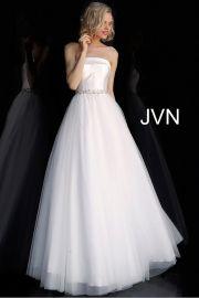 JVN66687 Strapless Embellished Belt Prom Ballgown by Jovani at Jovani