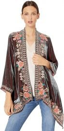 JWLA By Johnny Was Women s Velvet Draped Cardigan at Amazon