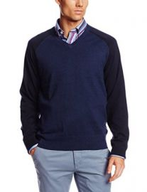 Jack Spade Menand39s Buckley Olorblock V-Neck Sweater at Amazon