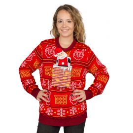 Jack in the Box Santa Claus 3D Ugly Christmas Sweater at Ugly Christmas Sweater