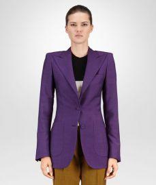 Jacket in Dark Byzantine Wool Mohair  at Bottega Veneta