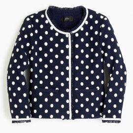 Jacket in Polka-Dot Textured Tweed by J. Crew at J. Crew
