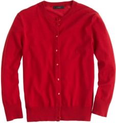 Jackie Cardigan in Red at J. Crew