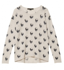 Jackie Dee Skull Pullover by 360 Sweater at Otte