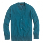 Jackie cardigan in teal at Jcrew at J. Crew