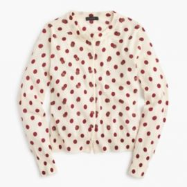 Jackie cardigan sweater in sequin polka dot at J. Crew