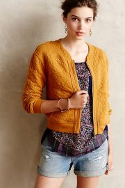 Jacquard Bomber at Anthropologie