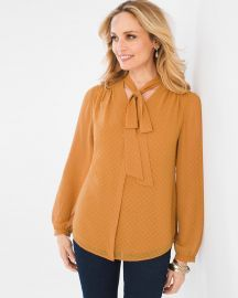 Jacquard Bow Top by Chicos at Chicos