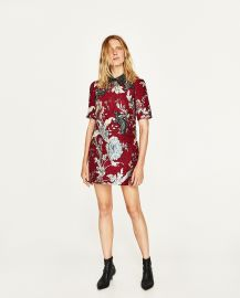 Jacquard Patches Dress at Zara