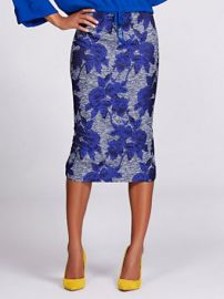 Jacquard Pencil Skirt - Gabrielle Union Collection by New York  Company at NY&C
