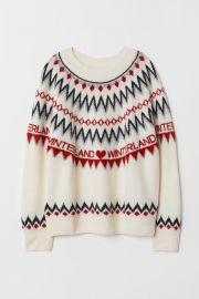 Jacquard-knit Sweater at H&M