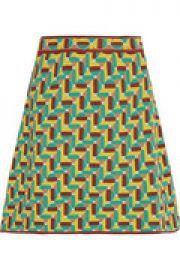 Jacquard-knit cotton-blend mini skirt at The Outnet