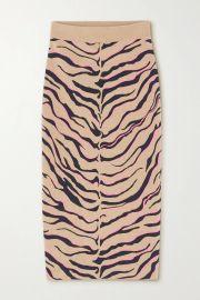 Jacquard-knit wool-blend midi skirt at Net a Porter