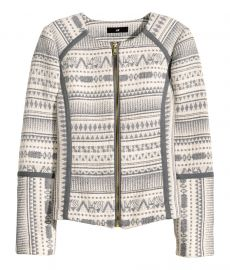 Jacquard weave jacket at H&M