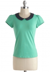 Jade Your Day Top at ModCloth