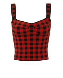Jadie Gingham Crop Top at Intermix