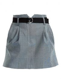 Jadie Prince Of Wales Check Mini A-Line Skirt at Saks Fifth Avenue