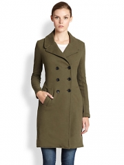 James Perse - Double-Breasted Cotton Jersey Coat at Saks Fifth Avenue