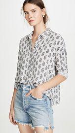 James Perse Paisley Print Boxy Shirt at Shopbop