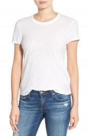 James Perse Sheer Slub Crewneck Tee at Nordstrom