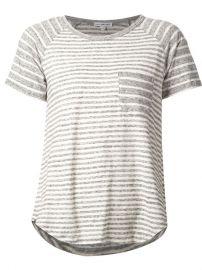 James Perse Striped Raglan T-shirt - Zoand235 at Farfetch
