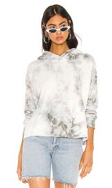 James Perse Tie Dye Cropped Hoodie in Paver from Revolve com at Revolve