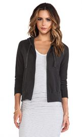 James Perse Vintage Cotton Hoodie in Carbon from Revolve com at Revolve