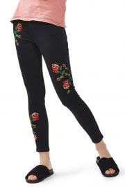 Jamie Embroidered Skinny Jeans at Topshop