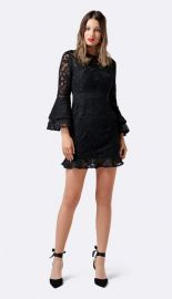 Jane Lace Flare Sleeve Dress by Forever New at The Iconic