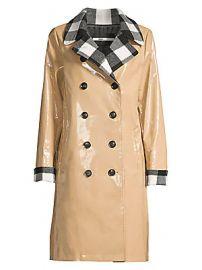 Jane Post - Buffalo Check High-Shine Rain Slicker at Saks Fifth Avenue
