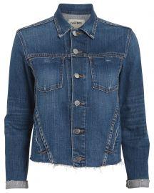 Janelle Cropped Denim Jacket at Intermix
