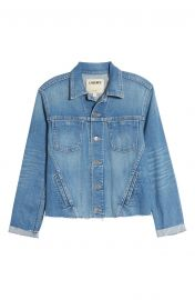Janelle Raw Cut Slim Denim Jacket at Nordstrom