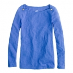 Jane's blue boatneck sweater at Jcrew at J. Crew