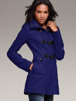 Jane's blue toggle coat at Victorias Secret