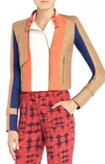 Janes colorblock jacket by BCBG at Bcbgmaxazria