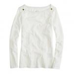 Jane's white boatneck sweater at Jcrew at J. Crew