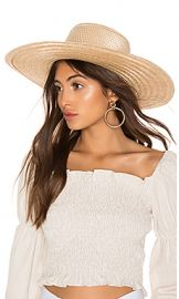 Janessa Leone Elsa Boater Hat in Natural from Revolve com at Revolve