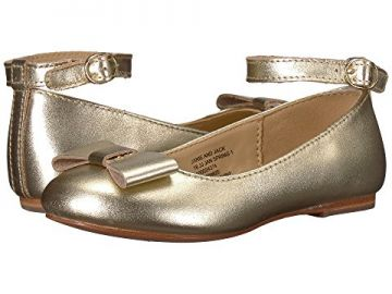 Janie and Jack Metallic Ankle Strap Ballet Flat  at Zappos