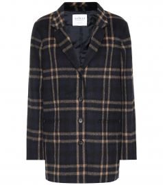 Jasmann plaid wool-blend coat at Mytheresa